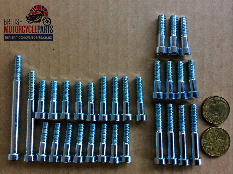 Triumph T120 TR6 T110 Screw Set 1960-62 - British Motorcycle Parts - Auckland NZ