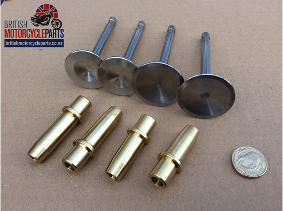 Triumph T120 TR7 Inlet Valves Exhaust Valves and Valve Guides 1973 to 1978