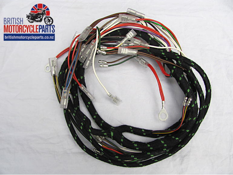 Triumph T150 Trident Cloth Braided Wiring Loom / Harness 1971 to 1972
