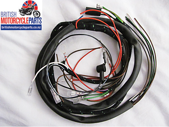Triumph T20 Wiring Loom Harness - 1956-63 - British Motorcycle Parts Ltd NZ