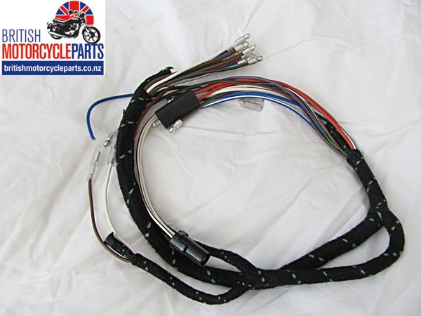 Great British Wiring Harness Company : Triumph t trident cloth braided wiring loom harness