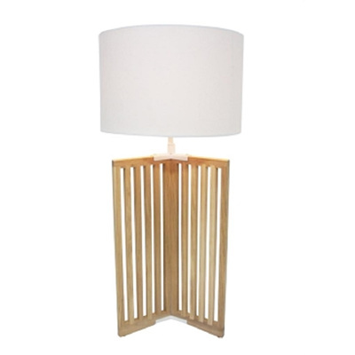 Trixi Wooden Table Lamp - White Shade/65cmh