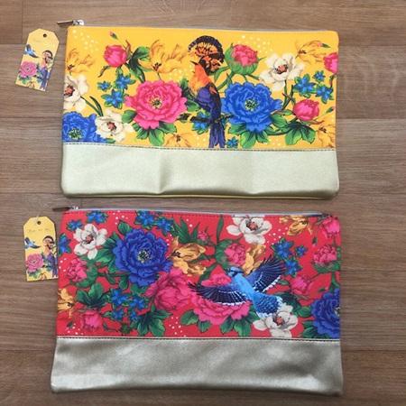 Tropical Floral Makeup Bag