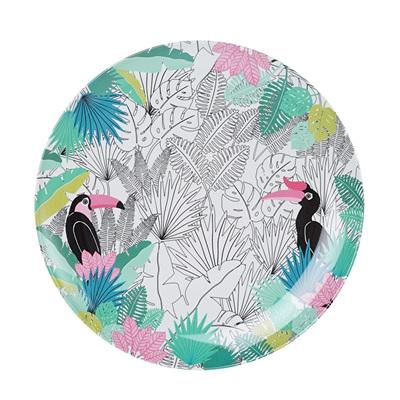 Tropical Print Dinner Plate