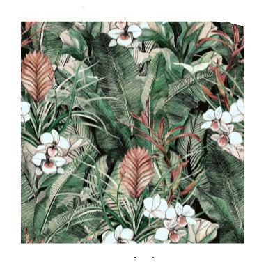 Tropical Tempered Glass Art -80x80cm