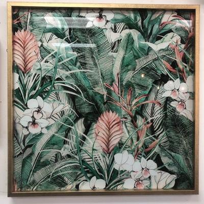 Tropical Tempered Glass Art 80x80cm