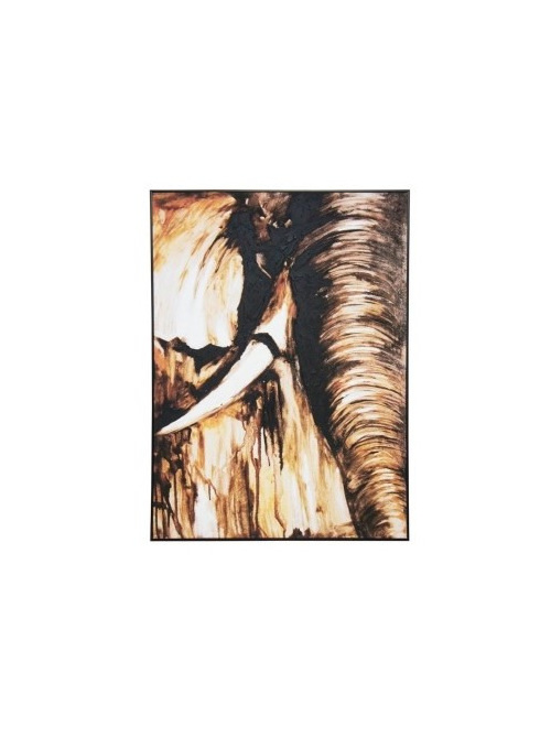 Tusk Canvas Art W Oil Detail - Black Frame 100x140cm