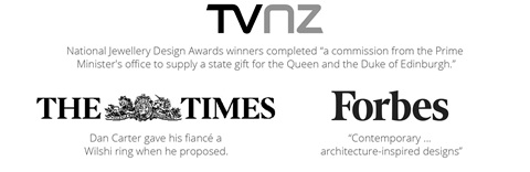 TVNZ, The Times UK, Forbes press features Inspired Jewellery designer rings