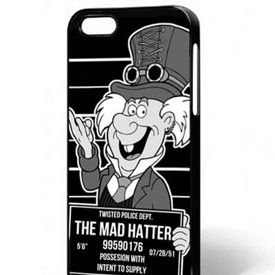 Twisted Steampunk Punk Mad Hatter Gothic Phone Case