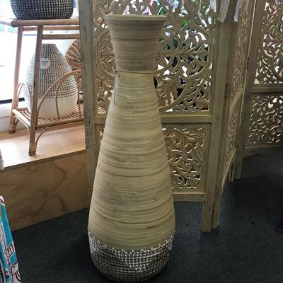 Uluwatu Bamboo & Seagrass Vase - Natural