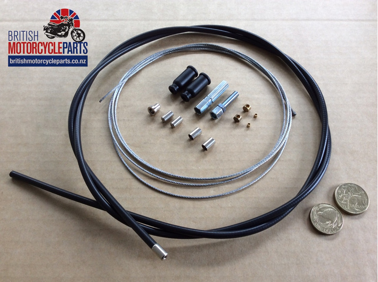 Universal Throttle Cable Kit - British Motorcycle Parts Ltd - Auckland NZ