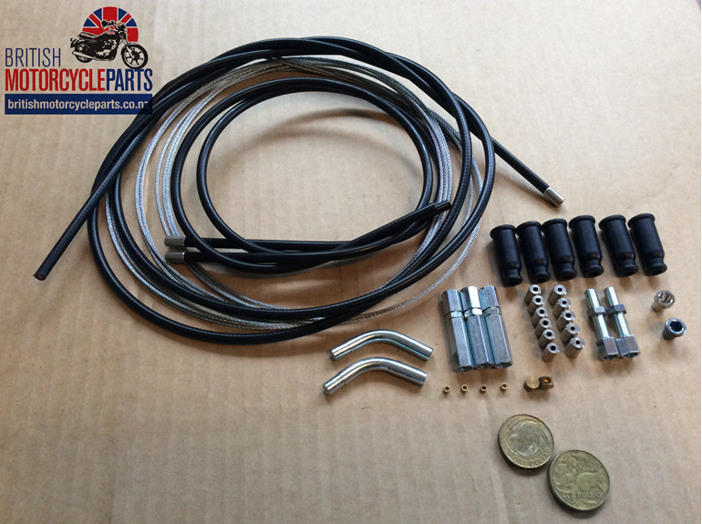 Universal Throttle Cable Kit - Twin Carb - British MC Parts Ltd - Auckland NZ