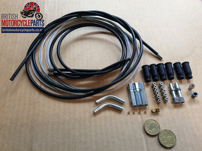Universal Throttle Cable Kit - Twin Carb
