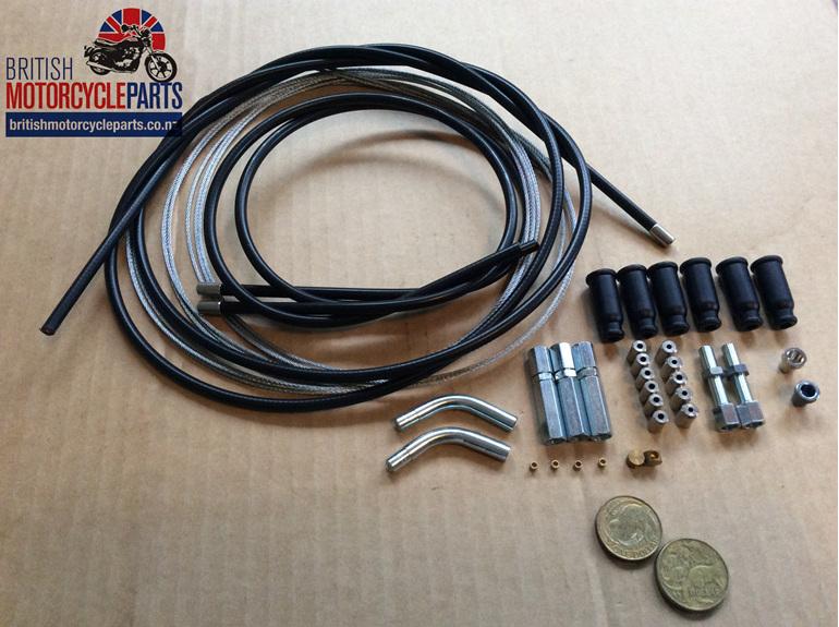 Universal Throttle Cable Kit - Twin Carb - British MC Parts Ltd - Auckland NZ