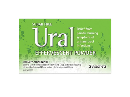 Ural Effervescent Oral Powder 28 Sachets