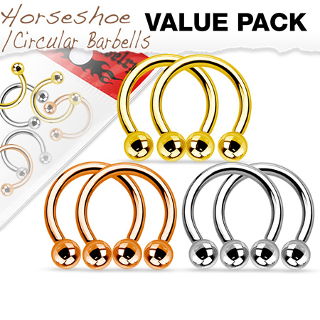 Value Pack Three Pair IP Coated Horseshoes