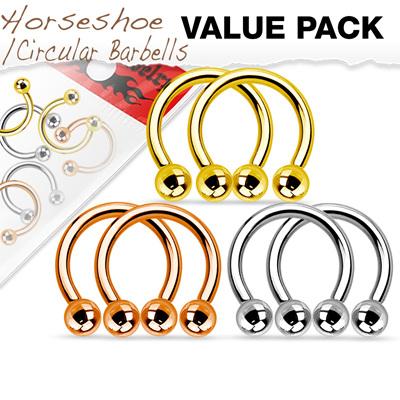 Value Pack Three Pair IP Coated Horseshoes