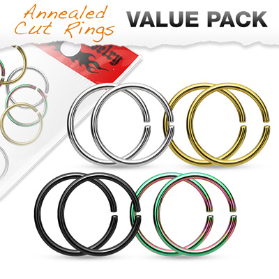 Value Packs 4 Pairs of Seamless Rings