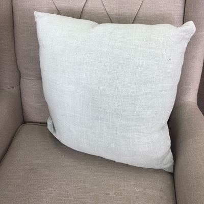 Vanya Slub Cotton Cushion - Pale Green