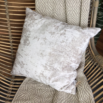 Vedika Slub Velvet Cushion - Grey 45 x 45cm