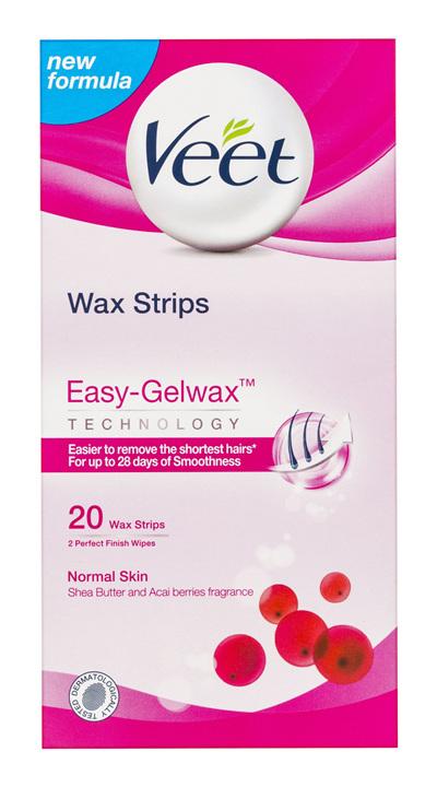 Veet Easy Grip Wax Strips for Normal Skin Hair Removal 20 Pack