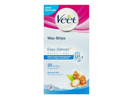 Veet Easy Grip Wax Strips for Sensitive Skin 20 Pack