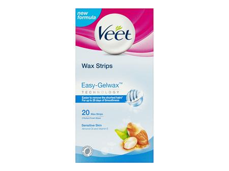 Veet Easy Grip Wax Strips for Sensitive Skin 20 Pack