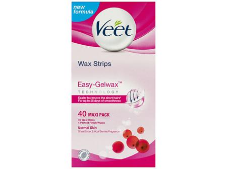 Veet Easy Grip Wax Strips Hair Removal 40 Pack