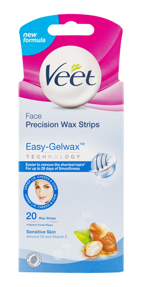 Veet Face Easy Grip Precision Wax Strips for Sensitive Skin 20 Pack