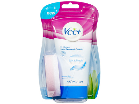 Veet In Shower Cream for Sensitive Skin Hair Removal 150g