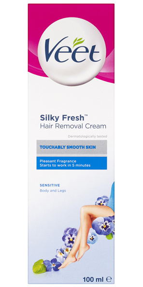 Veet Pure Hair Removal Cream Legs and Body Sensitive Skin 100mL