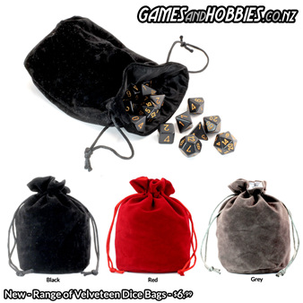 Velveteen Dice Bags Back in Stock