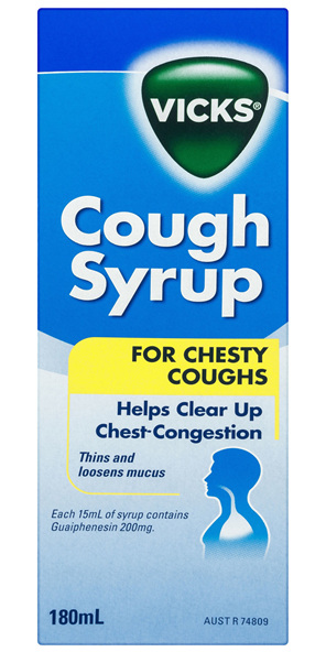 Vicks Cough Syrup for Chesty Coughs 180mL