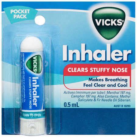 Vicks Nasal Decongestant Inhaler 0.5mL