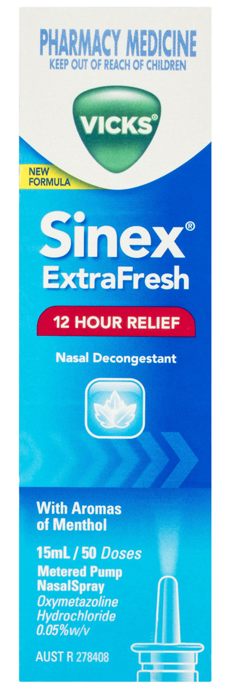 Vicks Sinex ExtraFresh Nasal Decongestant Nasal Spray 15mL