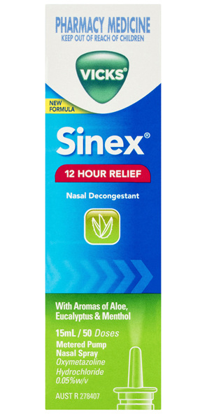 Vicks Sinex Nasal Decongestant Nasal Spray 15mL