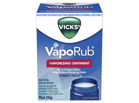 Vicks VapoRub Ointment Decongestant Chest Rub 50g