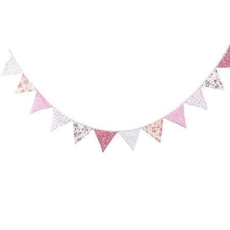Vintage Bunting - Paisley Pink