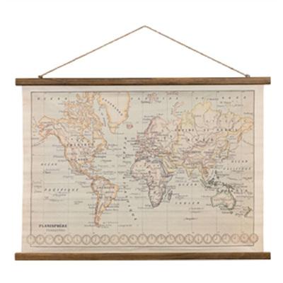 Vintage Canvas World Map