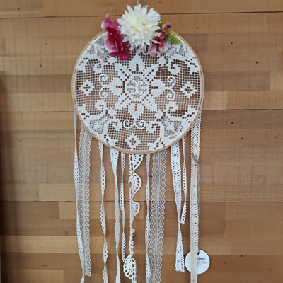 Vintage Lace & Posie Dream Catcher - Grace
