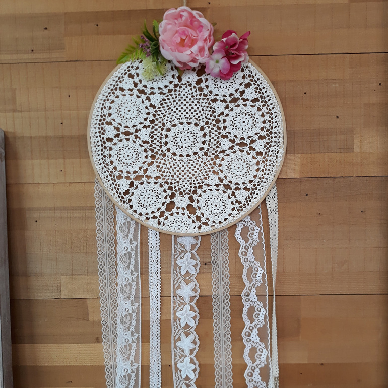 Vintage Lace & Posie Dream Catcher - Lottie