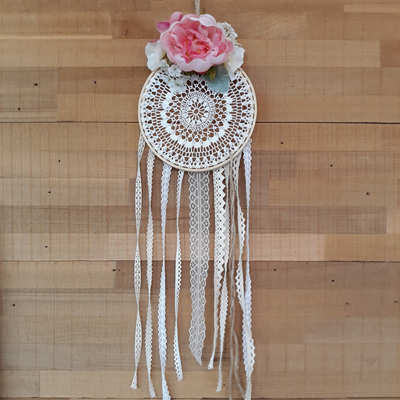 Vintage Lace & Posie Dream Catcher - Maggie