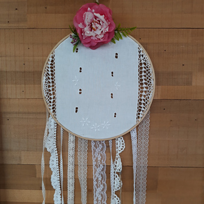 Vintage Lace & Posie Dream Catcher - Maisey