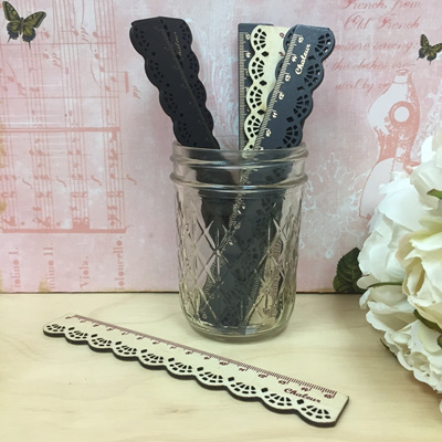 Vintage Lace Wood Ruler