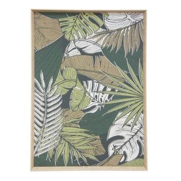 Vintage Palm Print - Natural Slope Frame 80x120cm