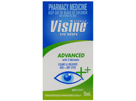 Visine Advanced Eye Drops 15mL