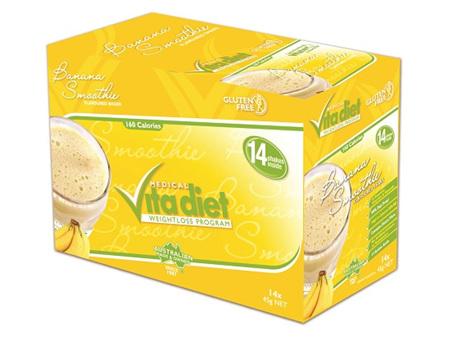 VITA DIET - SALE! ,Banana Shakes 14 sachets