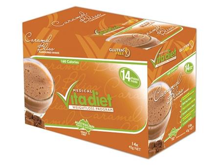 VITA DIET - SALE! ,Caramel Shakes 14 sachets