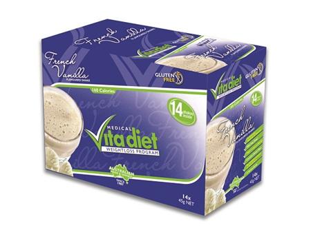 VITA DIET - SALE! ,French Vanilla Shakes 14 sachets