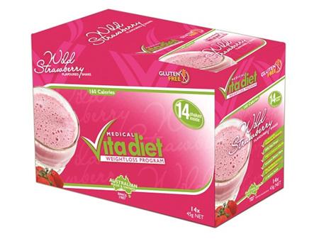 VITA DIET - SALE! ,Strawberry Shakes 14 sachets